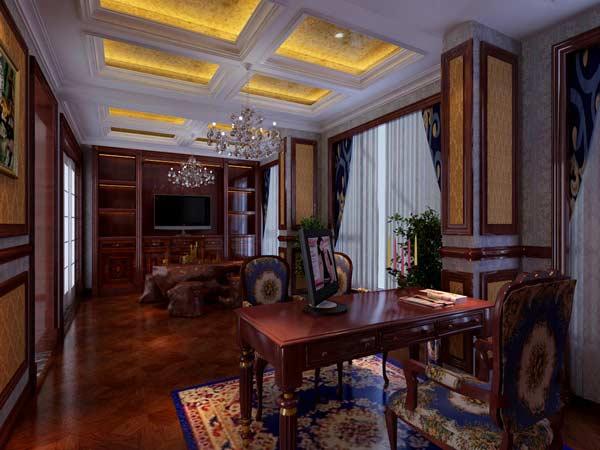信阳140平米简欧风格客厅装修案例