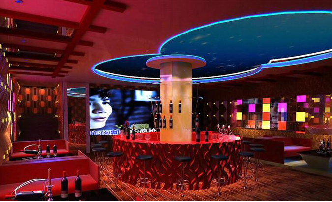 酒吧吧台ballbet贝博登陆效果图