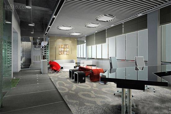 100平米写字楼七星彩开奖设计案例图