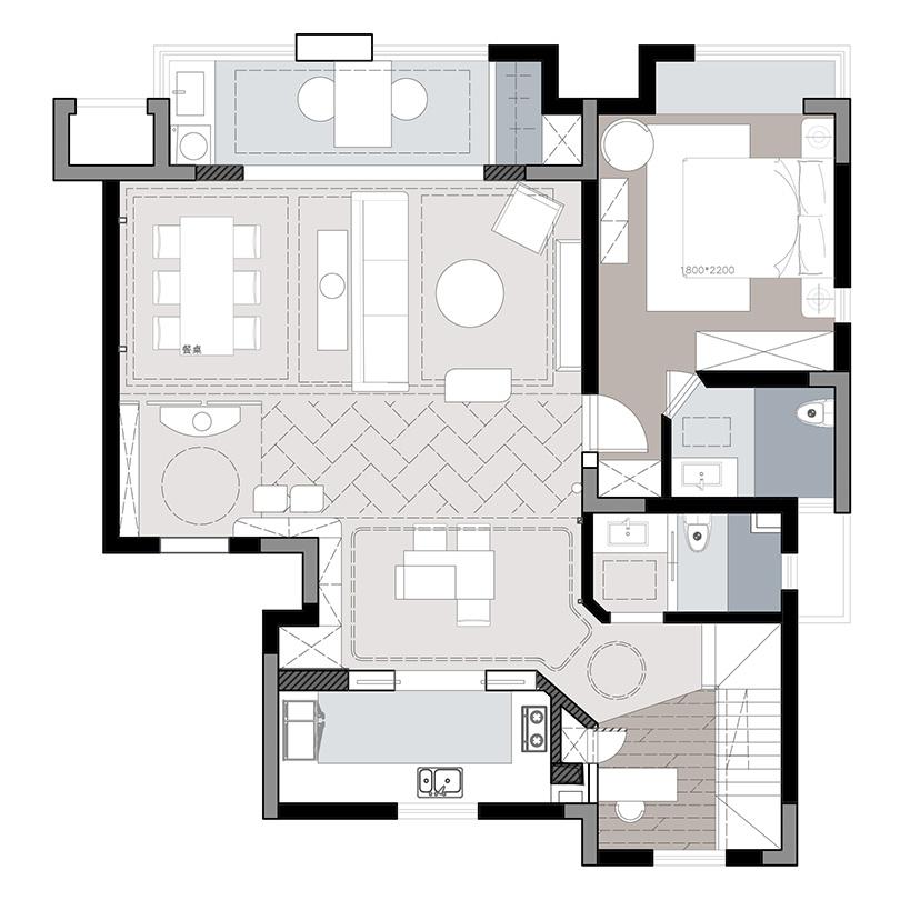 万科城顶层复式户型260平四室两厅ballbet贝博登陆计划改革方案