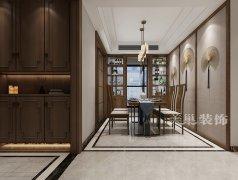 永威迎宾府新中式150平方四室两厅装修效果图