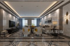 思念果岭国际社区340平方四室两厅混搭别墅装修