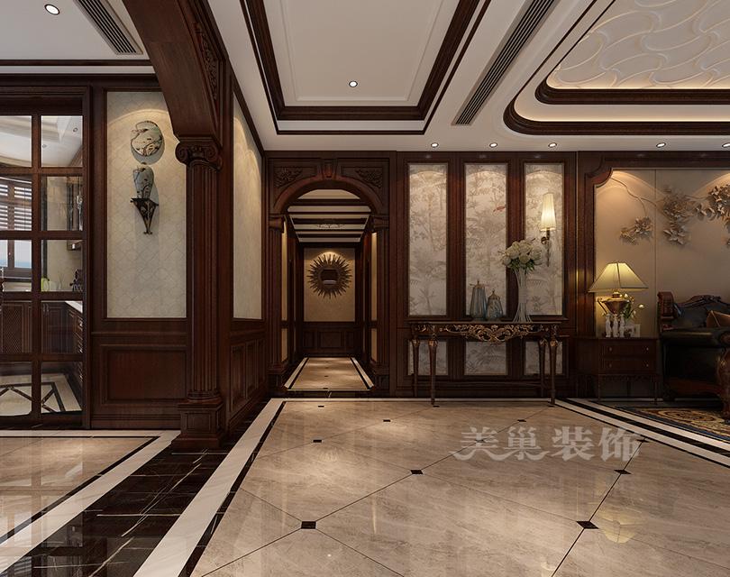 亚星观邸5室2厅ballbet贝博登陆古典气魄威风凛凛大平层案例——美式走道计划