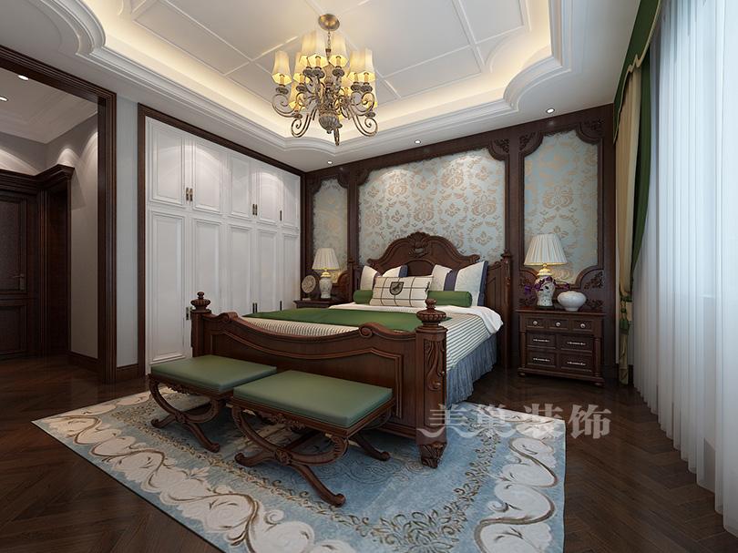 亚星观邸小区五室两厅大平层ballbet贝博登陆结果图——美式古典风主卧计划