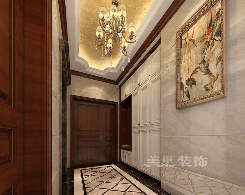 亚星观邸236平五室两厅户型ballbet贝博登陆美式古典风计划——入户门鞋柜