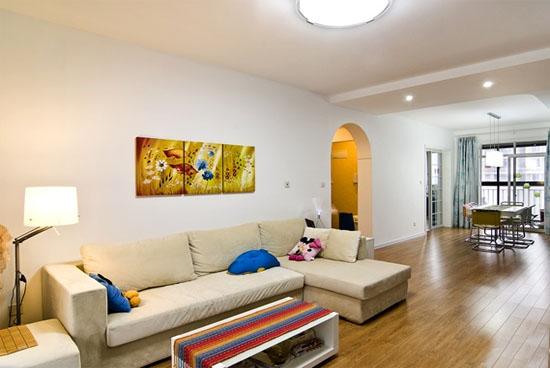 信阳140平米简欧风格客厅ballbet贝博登陆效果图