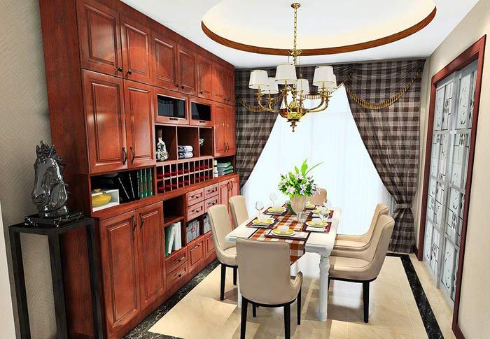 郑州中式餐厅七星彩开奖设计案例组图